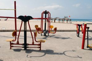 Beach playground, Tel Aviv by dpt56