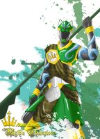 Power Rangers: Mythic Champions Green Hound by the-newKid