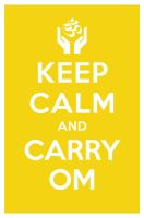 KEEP CALM AND CARRY OM by manishmansinh