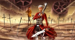 Fate/Extra: Unlimited Blade Works by Beverii