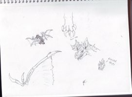 MH - Going Batty Doodles by Dragonsmana