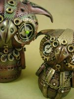 Big Owlie, Little Owlie by monsterkookies