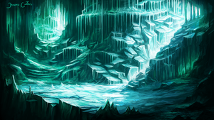 Ice Cavern by AtTheSpeedOfFetus