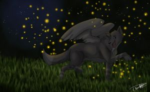 Fireflies by memory--of--flight