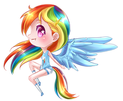Rainbow Dash by moon-valkyrie