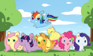 Mane 6 Chibi by Mousu