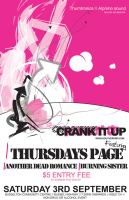 Crank It Up - Poster gig 3 by ximmer