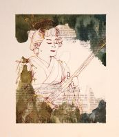 Geisha Woman with Instrument by ncRabbit