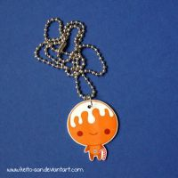 Gingerbread Man Necklace by Keito-San