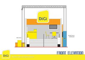 Digi Booth : Front Elevation by chuinhao10