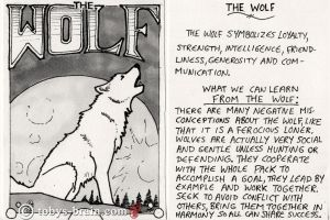 Animal Totem Card: The Wolf by tobys-brain