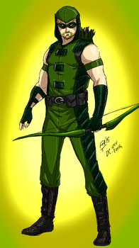New Earth:Green Arrow by kyomusha