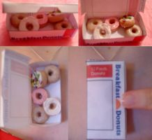 Box of Donuts charm by Taryn666