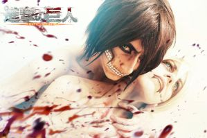 Titan eren from shingeki no kyojin by ShivaZaSkandara