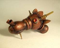 Steampunk Robot Dragon Head by buildersstudio