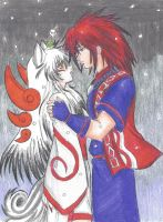 Okami and Oki by CelestialBrush