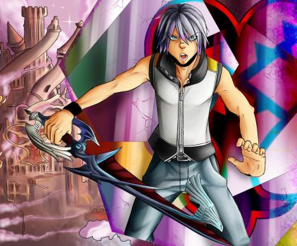 Riku and Hollow Bastion by AlexisProject