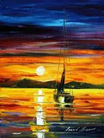 Before sun goes sleep by L.Afremov by Leonidafremov