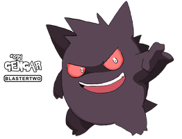 Gengar -Sketch- by blastertwo