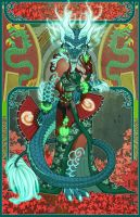 ~Yu'lon The Jade Serpent~ by RizyuKaizen