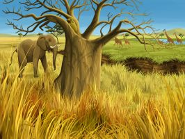 African Savannah by tamiart