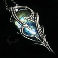 ANHTURALX - silver and labradorite by LUNARIEEN