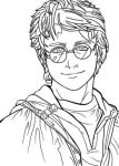 Harry Potter B/W by ArMan2Mangaka