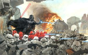 Vader and his troops at WAR! Poster by DryBowzillaJP