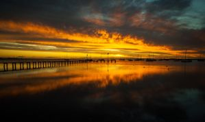 Corio Bay Sunrise by daniellepowell82
