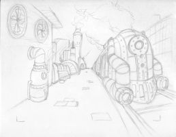 Steam Town Concept by Inaaca