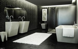 Modern Bathroom by 3DEricDesign