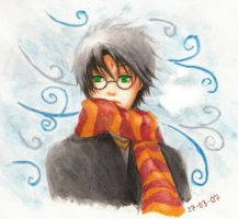 Harry Potter - Windy Winter by milostudio