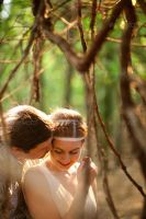 Wedding Couple in the Forest by Ondrejvasak