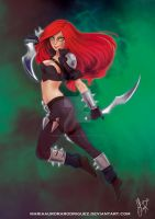 Katarina League of Legends Commission by MariaAuroraRodriguez