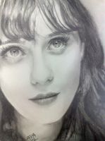 Zooey Deschanel by analuizantunes