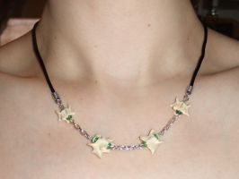 Mink Vertebrae and Glass Bead Necklace by Magelet