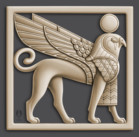 Phoenician Sphinx by yoctoparsec