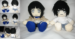 Plushie: L and Hinata by Serenity-Sama