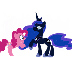 pinkie pie and luna vector by shadowandtwilight