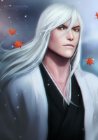 Jushiro Ukitake _ BLEACH by Zetsuai89
