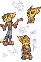 - Ratchet Sketchdump - by sonicwindartist