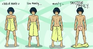 towel height vs masculinity by HatoriTsukasa