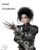 Michael Scissorhands-White by Dew-Sama