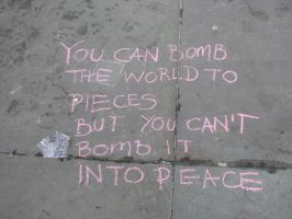 Bomb the world to peace? by jadedflower