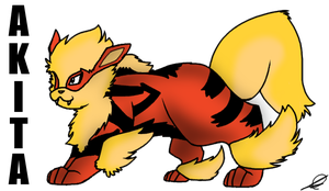 Akita: Arcanine Request by PanthergazeKitty