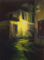 Lurking in Milan -OIL PAINTING by AstridBruning