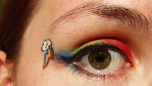 Rainbow Dash Makeup by eskimogeorge