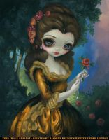 Princess Belle's Royal Portrait by jasminetoad