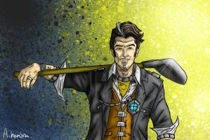 Handsome Jack - Shovel (Without text) by SephirothMichaelis
