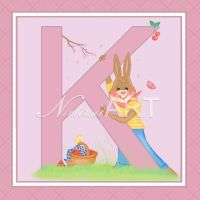 Bunny Letter K by Cunimuni